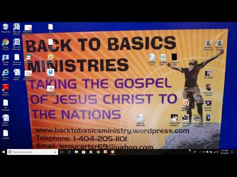 LEROY CARTER-BACK TO BASICS MINISTRIES