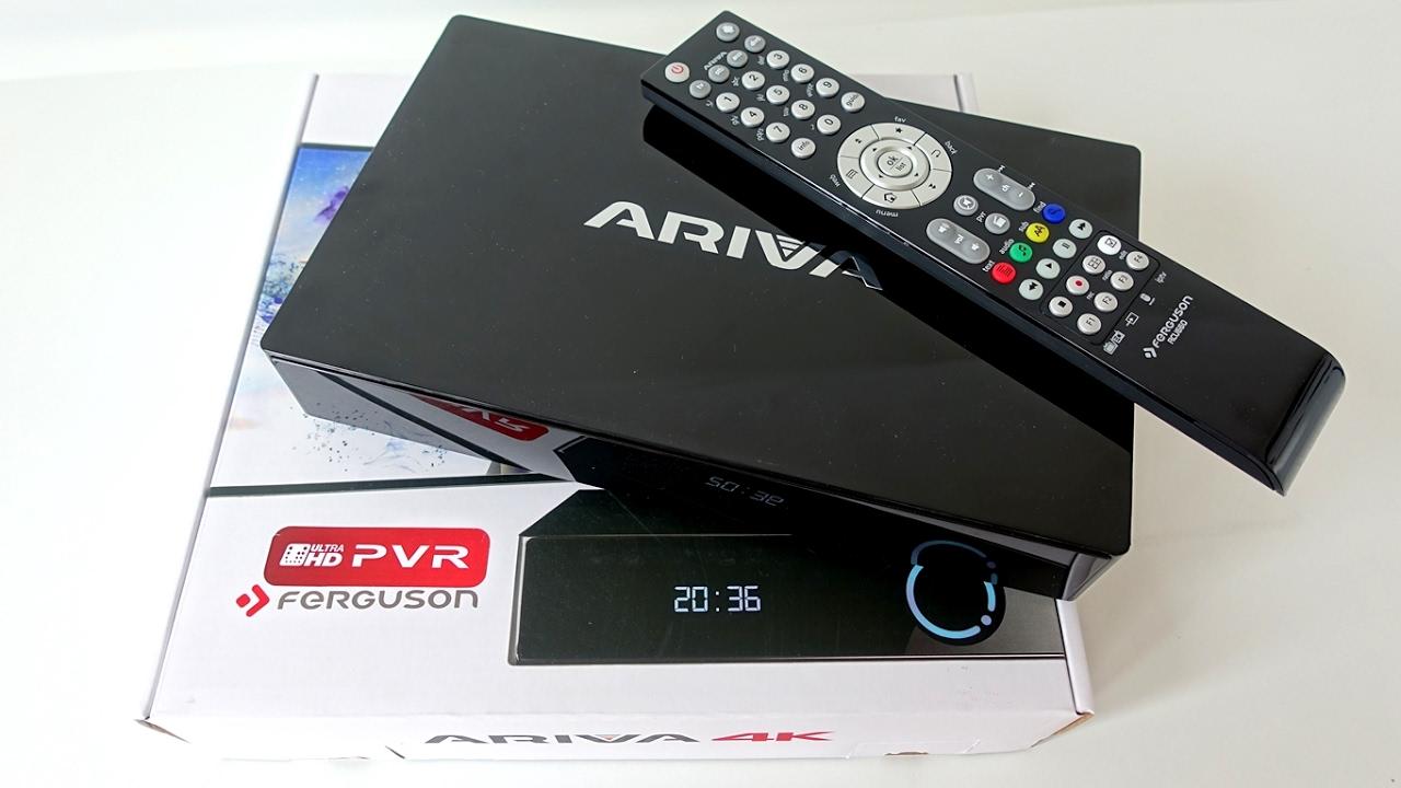Ferguson Ariva 4K Hybrid Android TV Box with DVB-S2 Tuner Unboxing (Video)