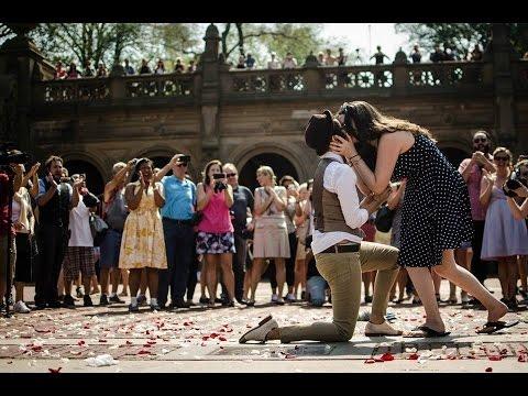 Jess and Lauren's Central Park Flashmob Proposal