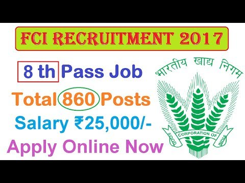 Food Corporation of India (FCI) Recruitment 2017 | Apply Online