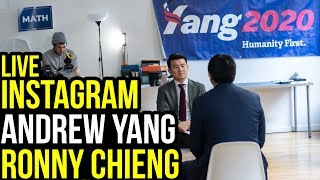 Andrew Yang and Ronny Chieng on The Daily Show Instagram | January 14th 2019
