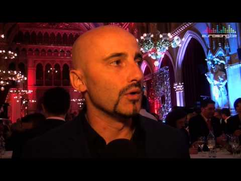 Interview Voltaj at the opening reception in Vienna - Eurovision 2015 - Romania