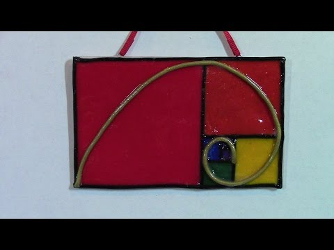 DIY Fibonacci Spiral or Golden Ratio Christmas Ornament