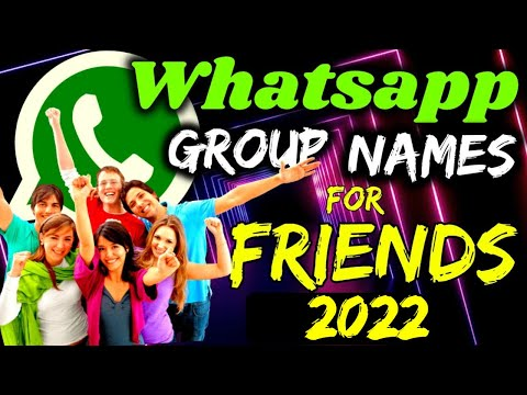 😍Amazing Whatsapp Group Name For Friends | Friends #WhatsappGroupNames