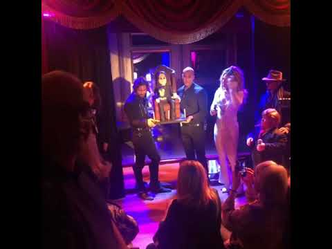 Ozzy Osbournes 70th Birthday Party Cake Presented By Britney Spears And Tiny Trump