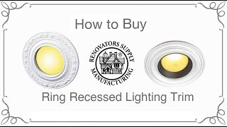 Ring Recessed Lighting Trim | How to Buy | Renovator's Supply(, 2014-11-28T16:59:07.000Z)