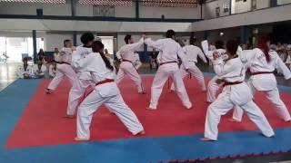 Exame de faixa preta taekwondo