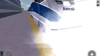 Two trains approaching at he same time! CLOSE TO COLLISION (Rails Unlimited)(Roblox)