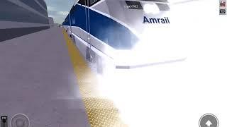 ¡Dos trenes acercándose al mismo tiempo! CERCA DE LA COLISION (Rails Unlimited)(Roblox)