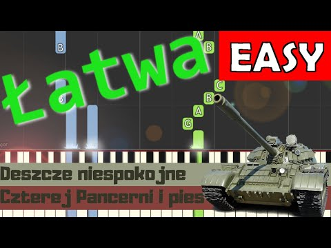 🎹 Deszcze niespokojne (Ballada o pancernych) - Piano Tutorial (łatwa wersja) 🎹