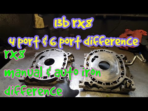 Mazda rx8 - rotary 13b 4 port and 6 port difference, rx8 manual and  automatic iron difference