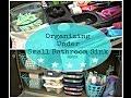 Organizing Under a Small Bathroom Sink | Dollar Tree Storage