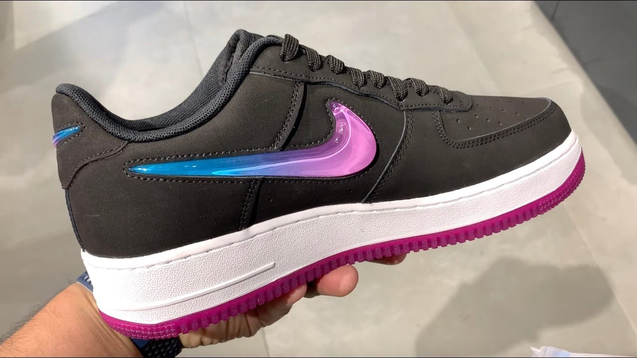 NIKE AIR FORCE 1 JELLY JEWEL BLACK ON FEET REVIEW