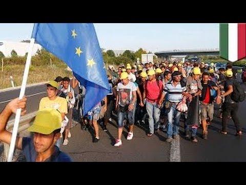 Правительство Венгрии помогает сотням беженцев въехать в Западную Европу