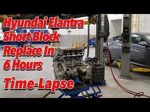 Hyundai Elantra Short Block Replacement In 6 Hours - Time-Lapse