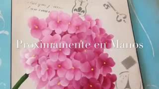 (Pintura Decorativa) Como pintar Flores Hortensias con Acrilicos?