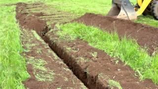 Stehr Grabenfräse SGF 1300 | Grabenerstellung für Stromleitung zu einem Funkmasten