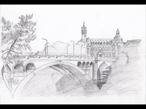 Drawing Adolphe Bridge // Drawing Luxembourg