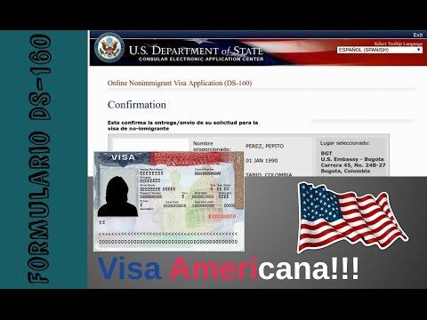 Como diligenciar el Formulario de Visa americana DS 160   Consejos para locos