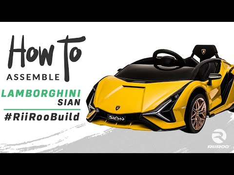Lamborghini Sian Licensed 12v Electric Kids Ride On Car Assembly Instructions