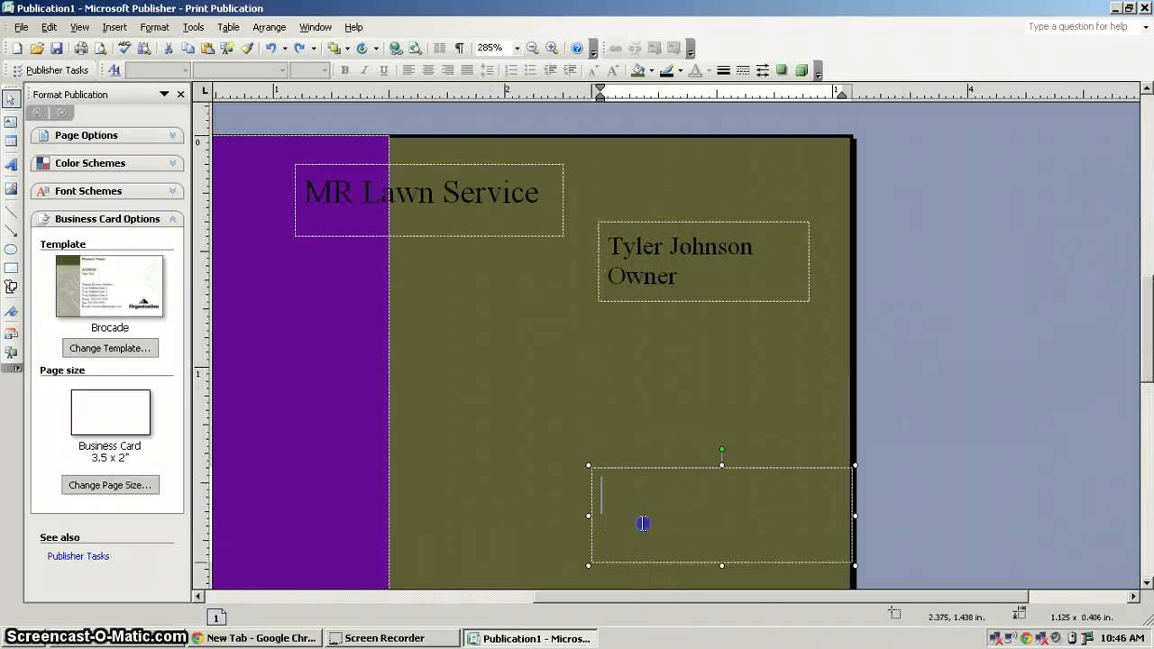 How to Create a Business Card In Microsoft Publisher - YouTube