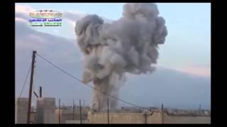 סוריה: הפצצות משולבות רוסיות וסוריות , על מחוזות חאמה ואידליב  צילום: מדיה חברתית, רויטרס