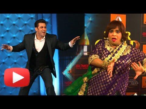 Kiku Sharda aka Palak Teaches Break Dance To Salman Khan - Star Guild Awards 2014