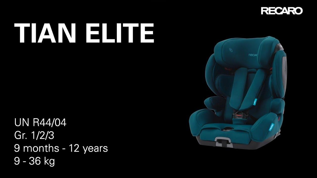 Recaro Tian Elite Tutorial You, Recaro Child Car Seat Tian Elite