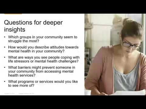 Understanding and Improving Mental Health Needs in Your Community