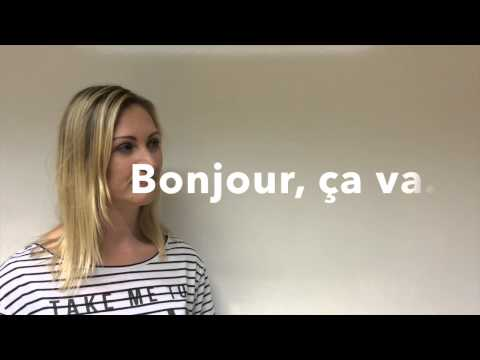 How To Pronounce Bonjour & Ça Va In French + Bloopers