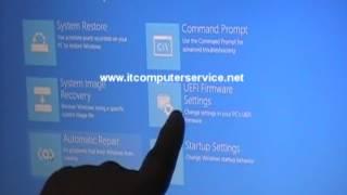 Hoe te starten in de UEFI-Instellingen op een Toshiba Satellite C855 Windows 8