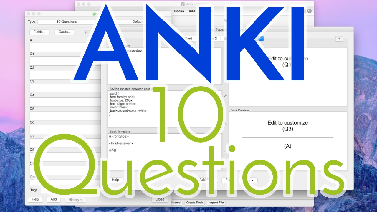 How to Use Anki Effectively - 10 Question Tutorial [Part 3]