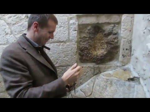 Hand Print of Jesus in Jerusalem Old City - The Fifth Station of the Via Dolorosa, Jerusalem