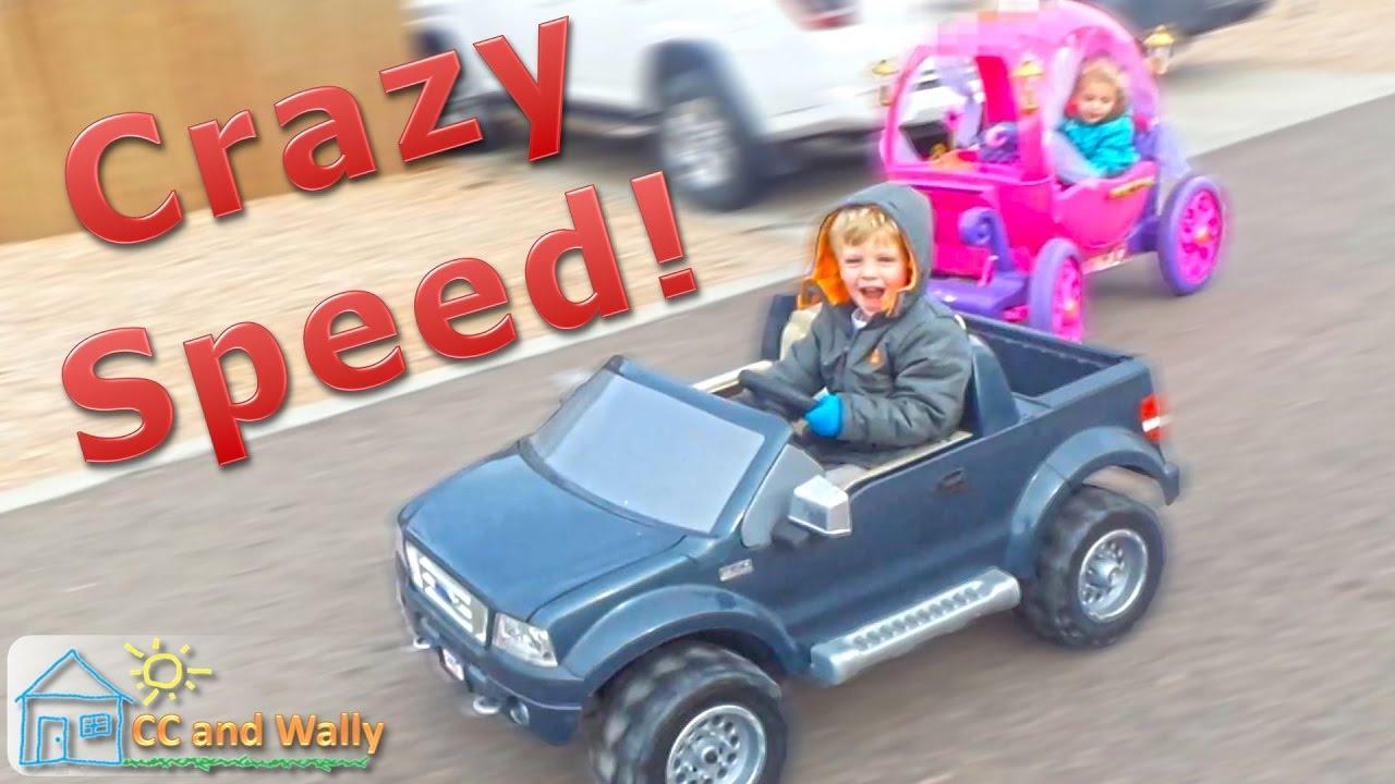 Disney Princess Carriage vs Power Wheels 18-Volt modified Ford F150 Street  Race 24v vs 18v