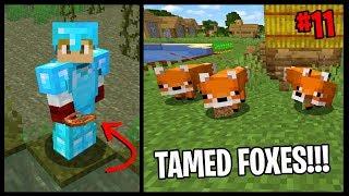 FIRST TIME TAMING FOXES IN 1.14.3!! | Minecraft Village & Pillage Challenge | #11