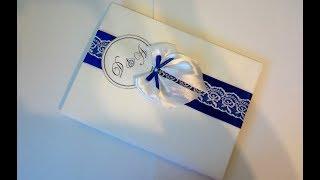 Папка для Свидетельства о браке, своими руками, из картона, лент и ткани, свадьба