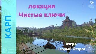 Русская рыбалка 4 озеро Старый Острог Карп напротив базы