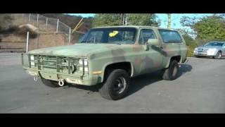 86 Chevy Blazer C10 4x4 Hunting Work Truck SUV 24 Volt Diesel Bio Camo