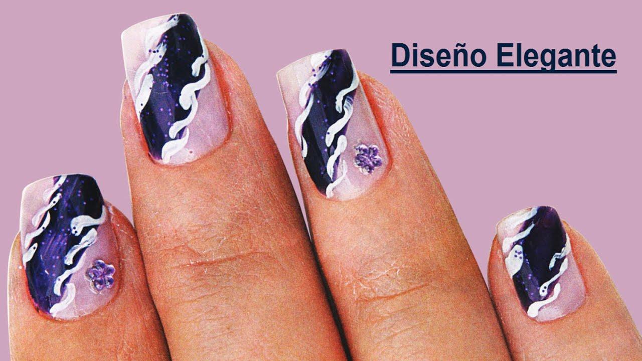 fotos o imagenes de uas decoradas manicure de uas diseo elegante paso a paso youtube
