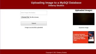 Uploading and Retrieving Images from MySQL Database using PHP