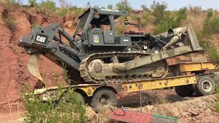 How to unload dozer without ramp!!