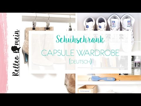schuhschrank capsule wardrobe deutsch werbung youtube. Black Bedroom Furniture Sets. Home Design Ideas