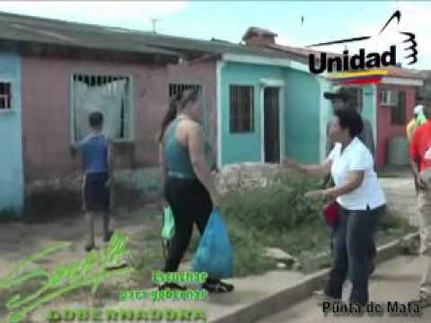 SORAYA HERNANDEZ GOBERNADORA DE MONAGAS EN PUNTA DE MATA