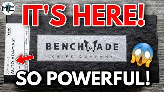 IT'S HERE! Unboxing the 2021 Benchmade AUTO Adamas In CPM Cru Wear!