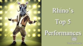Rhino's Top 5 Best Performances | Masked Singer | Season 3
