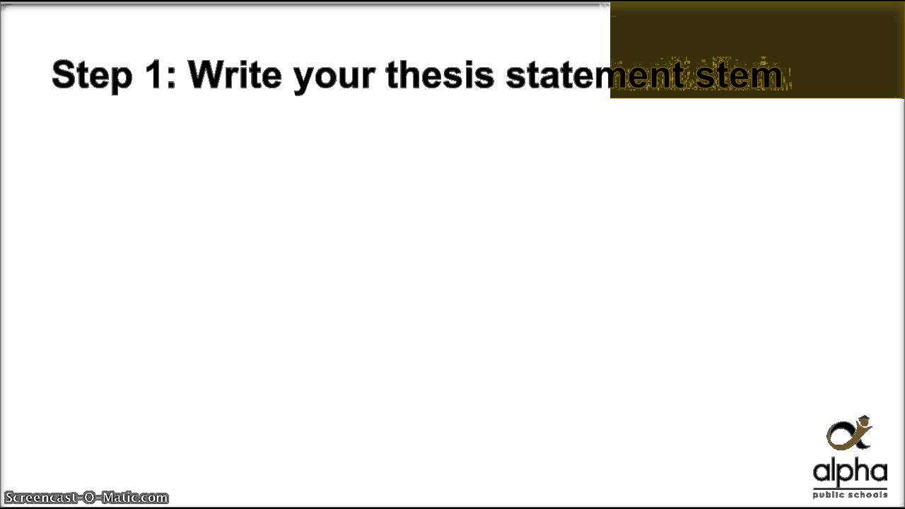 steps to write a thesis statement Examples of middle school thesis statements how to write a thesis statement in middle school introduction a thesis statement is a declaration of your claim it summarizes the theme of your paper and gives a sense of focus to your essay in other words, you tell the reader what to expect in the rest of the paper through a strong.