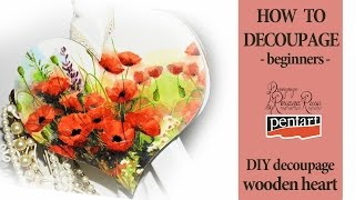 DECOUPAGE for beginners - how to decoupage video Step by step tutorial - decoupage on wood