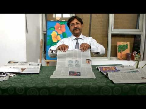 How to make paper quilings/ creative art/ recycling- Dps Sonepat