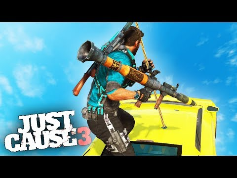 SUPERCAR SWING STUNT! Just Cause 3 Stunts!