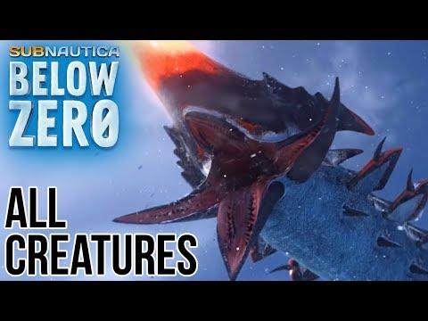 ALL NEW SUBNAUTICA BELOW ZERO CREATURES! - YouTube